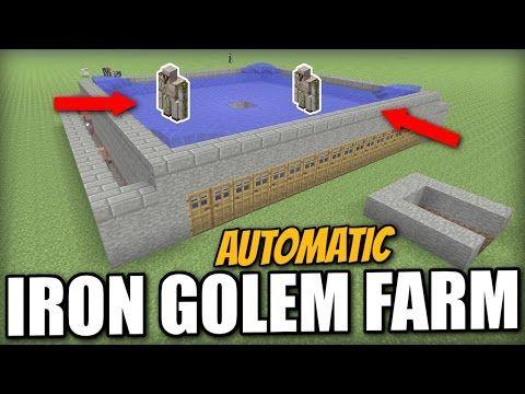 Minecraft Automatic Iron Golem Farm Tutorial Ps4 Pe Xbox