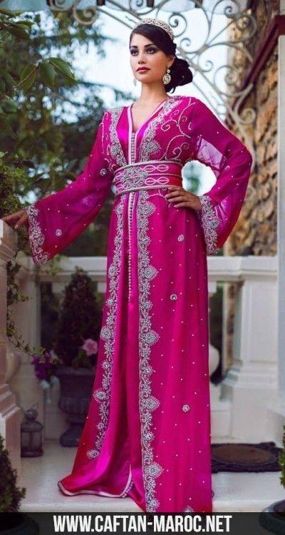 caftan mariage rose indien 57f5c476172