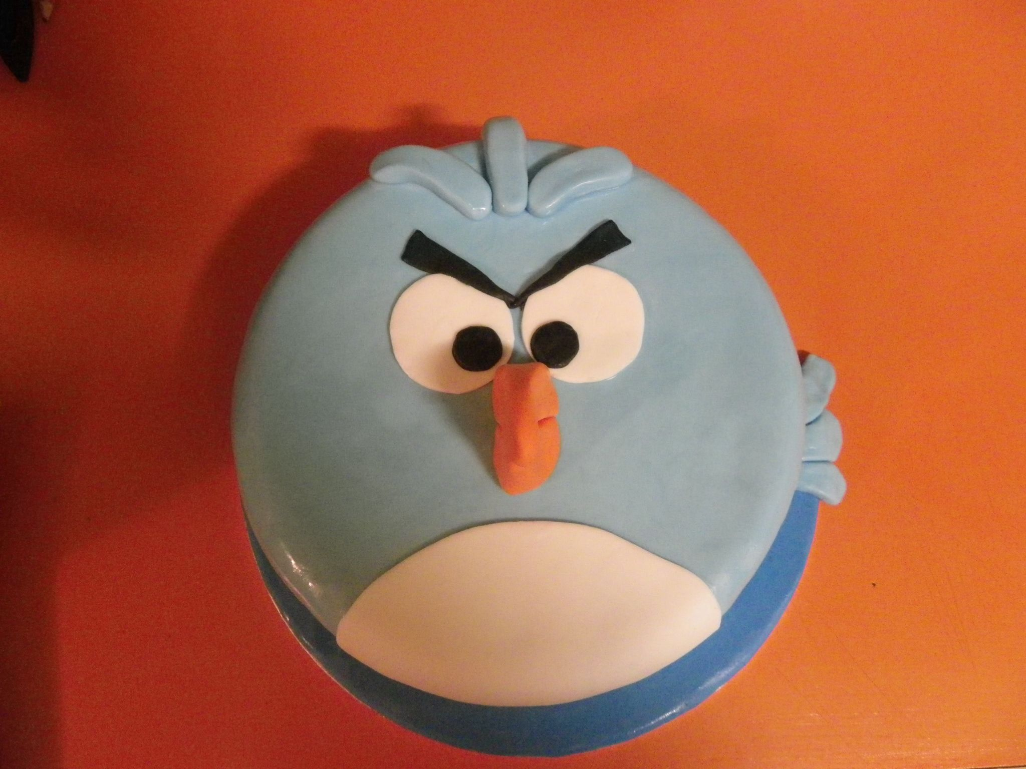 My sonus th birthday cake blue angry bird facebook