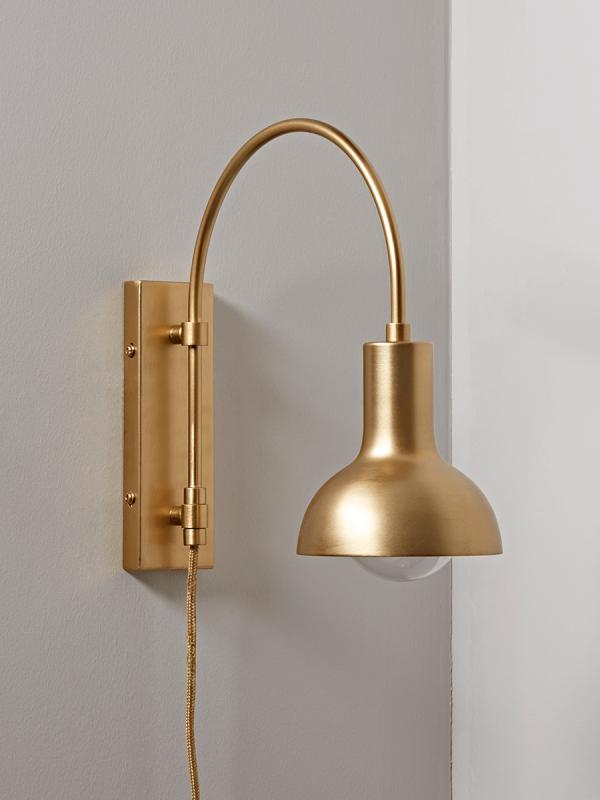 New Open Bulb Wall Light Brass New Lighting New This Season In 2020 Brass Wall Light Brass Wall Lamp Wall Lights