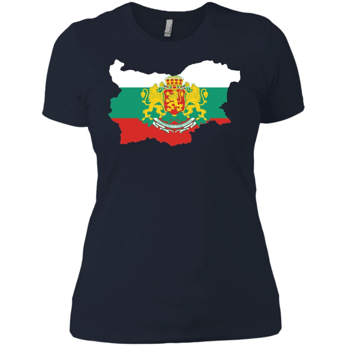 Bulgaria flag 1-01 Next Level Ladies' Boyfriend Tee