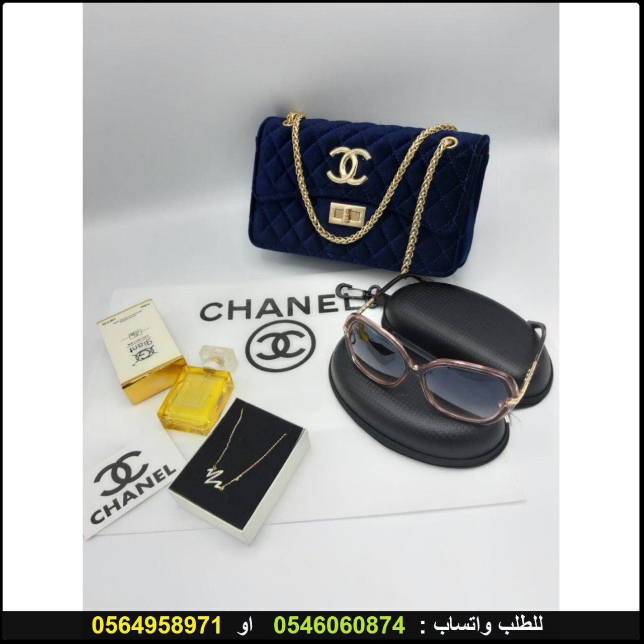 شنط شانيل نسائي Chanel مع نظارات شانيل و سلسال نبض القلب و عطر هدايا هنوف Chloe Drew Bags Crossbody