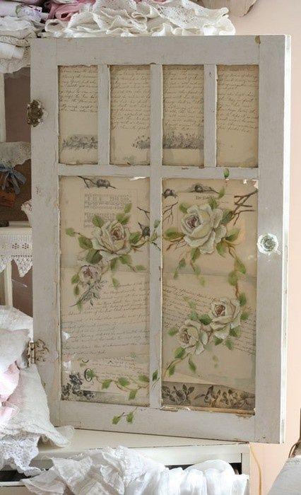 Ideas For Old Wooden Doors   Old door..with hand written paper ...