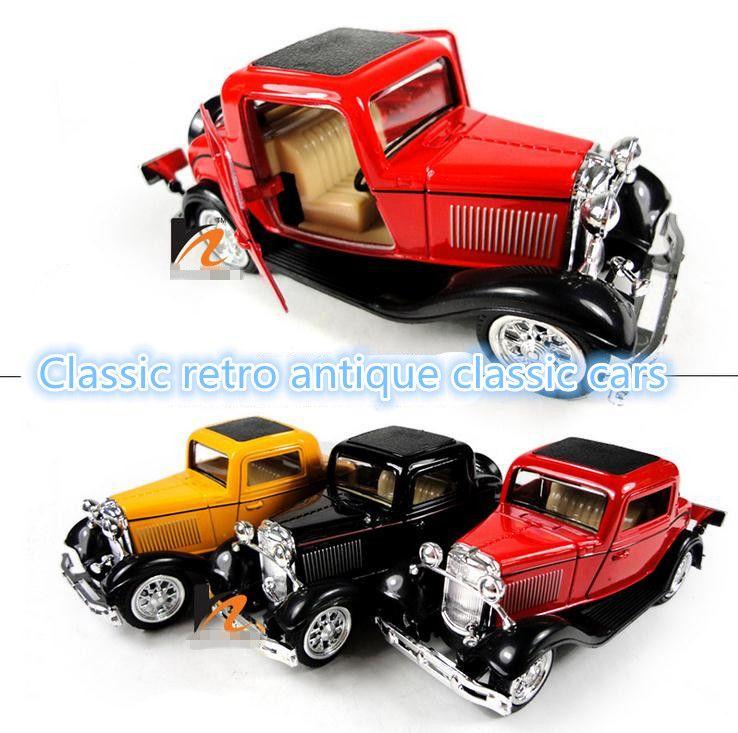 Classic toys! 1 : 36 metal retro antique classic cars pull back ...