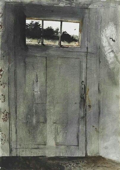 FRONT DOOR AT TEEL'S By Andrew Wyeth