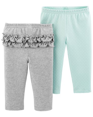 Baby Mint Carters Baby Girls 2 Pack Pants