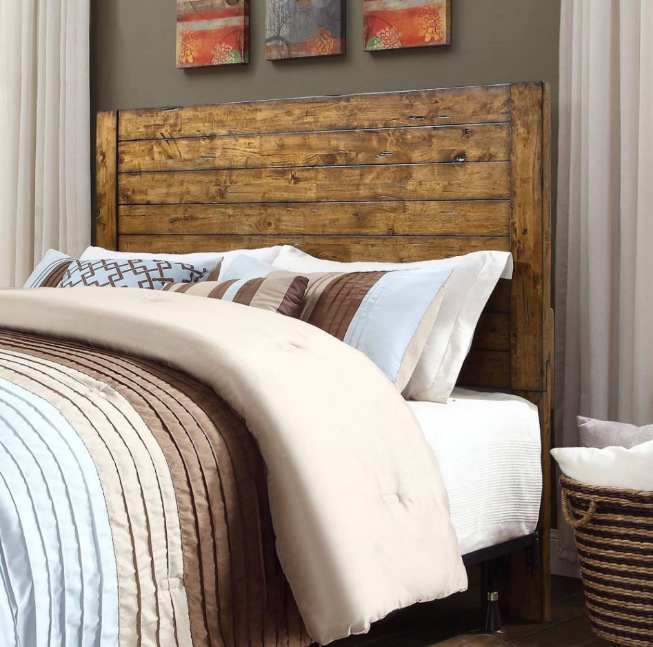 Full Queen Size Headboard Solid Wood Country Rustic