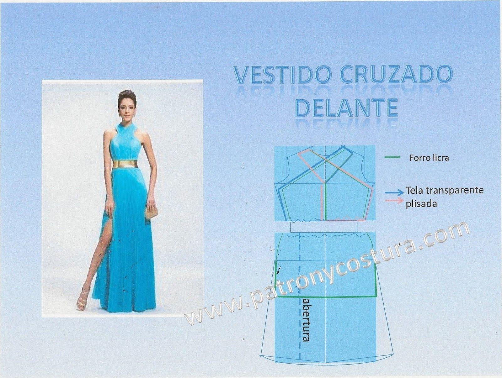 vestido cruzado delante | molde delantero base | Pinterest ...