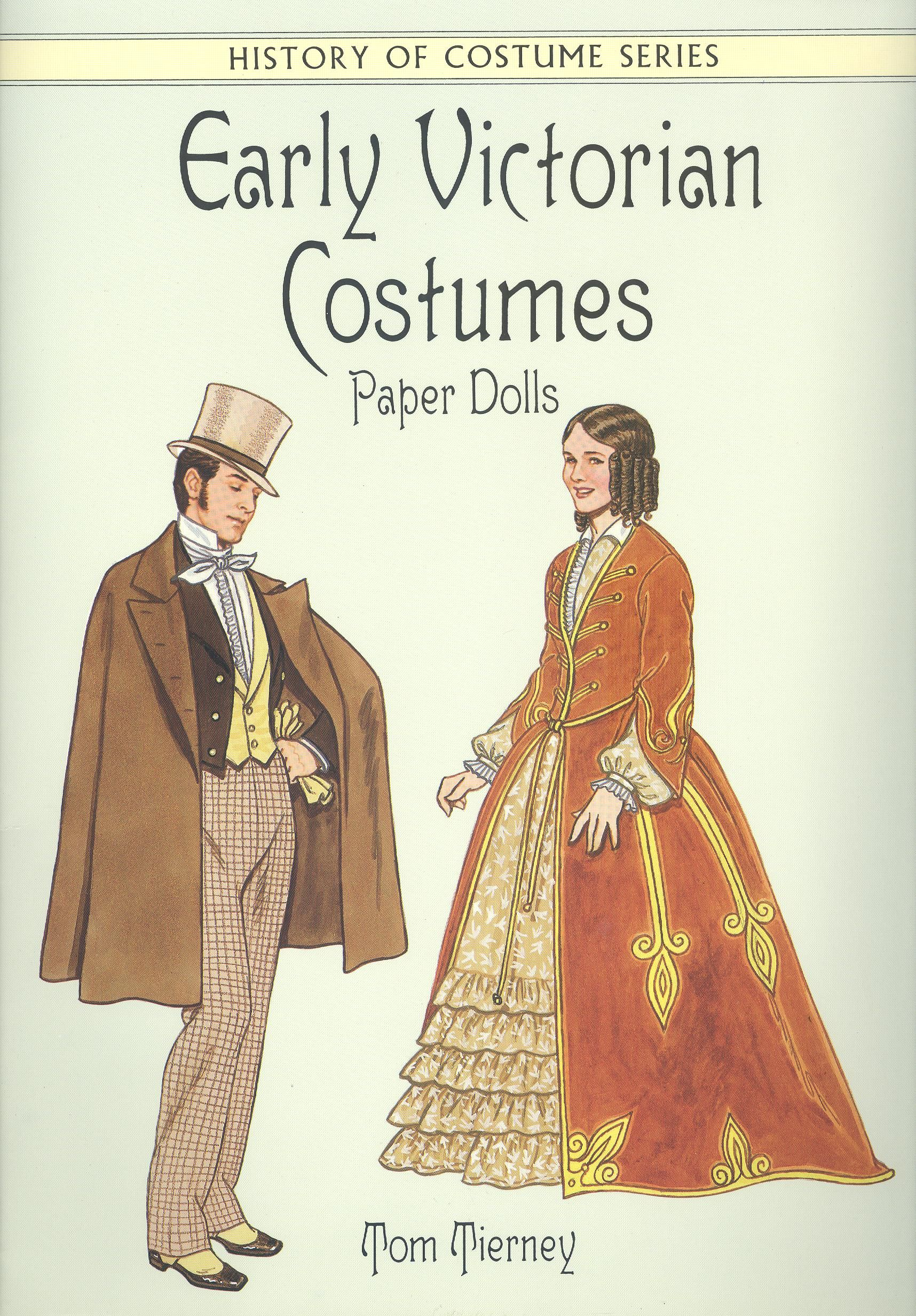 Tom tierney colonial fashions paper dolls - Early Victorian Costumes Paper Dolls By Tom Tierney