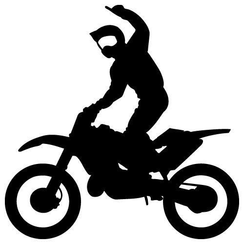 Dirt Bike Clipart Black And White Motocross Start...