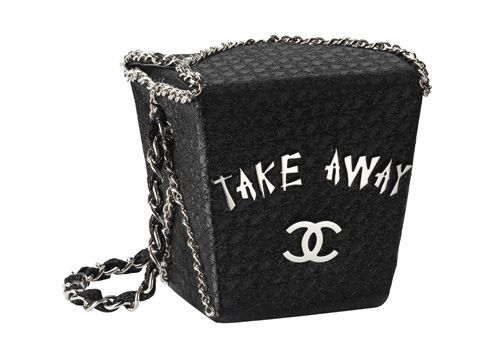 fe08e6f4f455 Chanel Chinese takeout box purse.. By Channel..