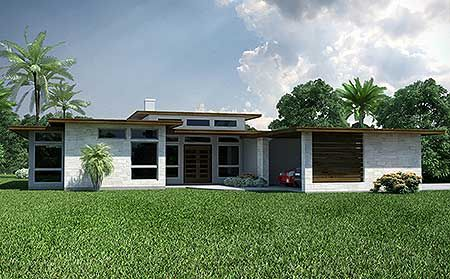 3 Bed Modern Ranch House Plan Modern Ranch Modern House