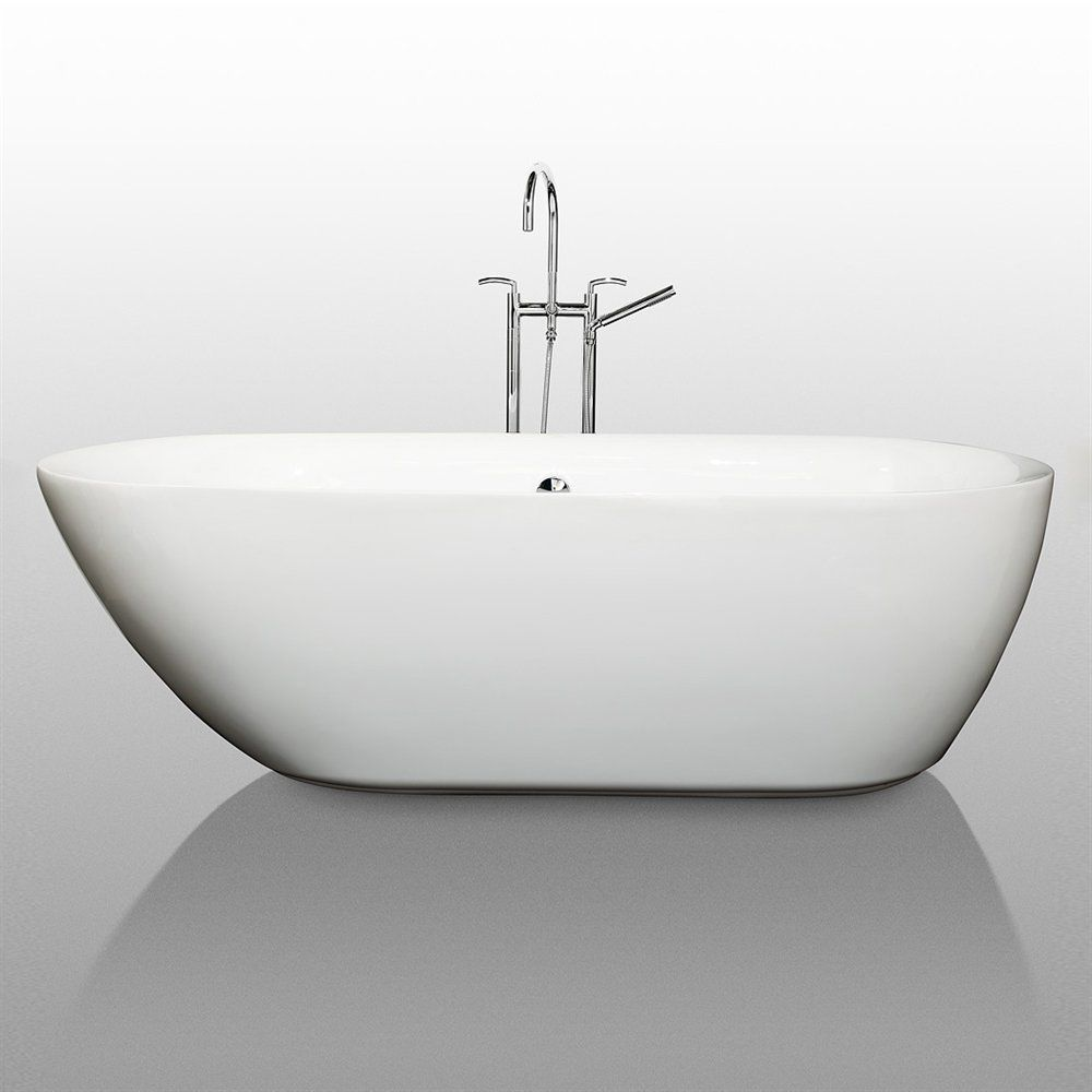 Shop Wyndham Collection WCOBT100071 Freestanding Soaking Bathtub at ...