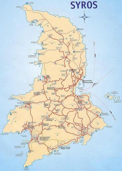 Island of Syros Map Got the tshirt Pinterest City