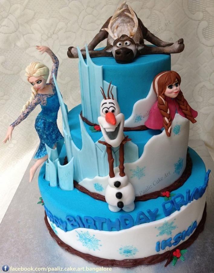 Frozen Cake From Bangalore India Frozen Cake Disney