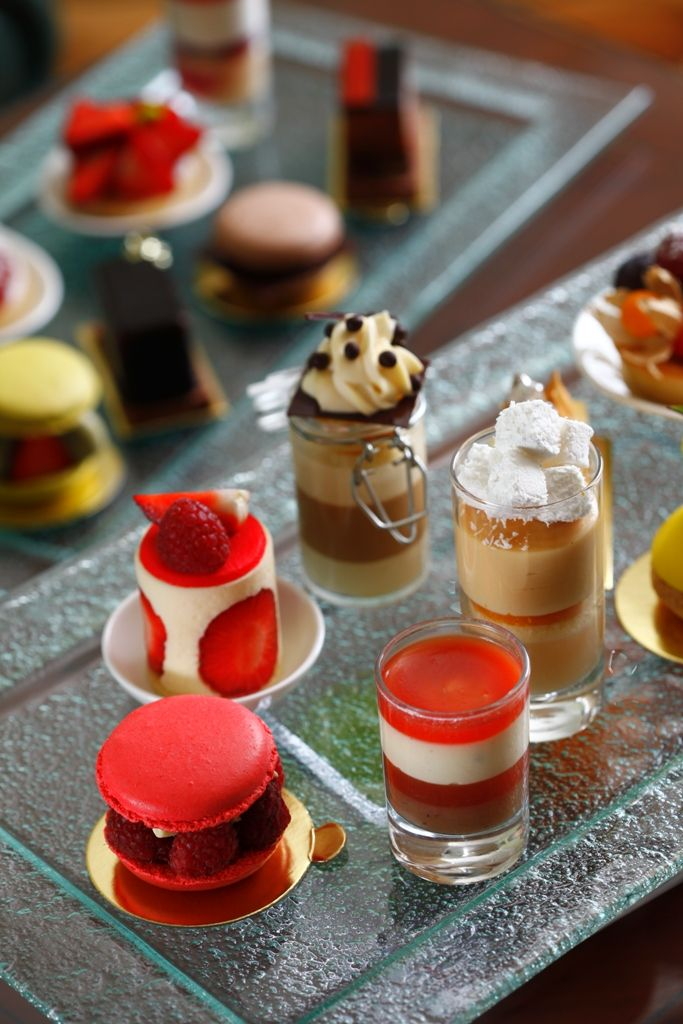 Colorful plate of desserts prepared by Executive Pastry Chef, Ghislain Gaille #FSTaste