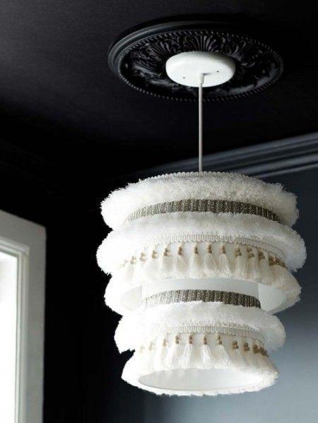 Como hacer una hermosa pantalla de lampara colgante lo - Como hacer lamparas de techo artesanales ...