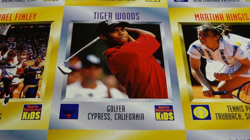 1996 tiger woods rc sports illustrated magazine kids