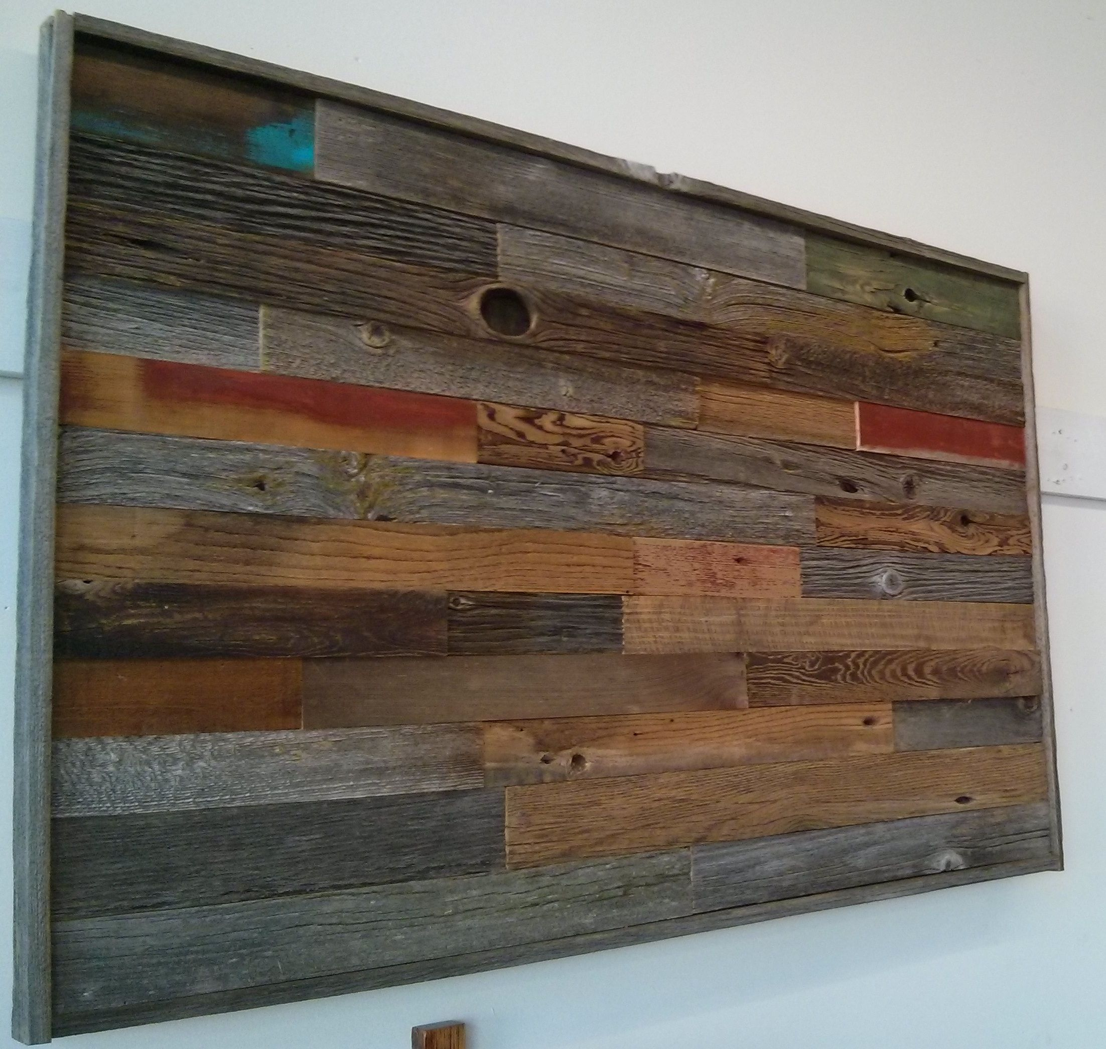 Reclaimed barn board mosaic wall art by barnboardstore.com ...