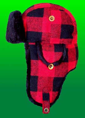 Elmer Fudd Trooper Style Trapper Red And Black Plaid Winter Hat ... 949381c0f1d9
