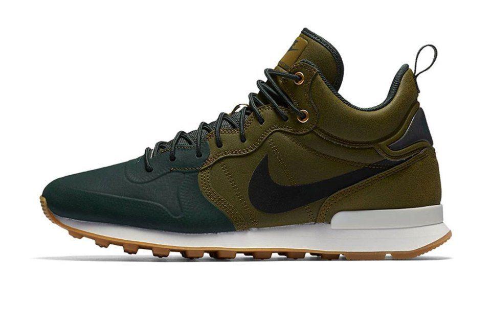 vía Nike Internationalist Mid Utility Olive Flak Grove Green ...