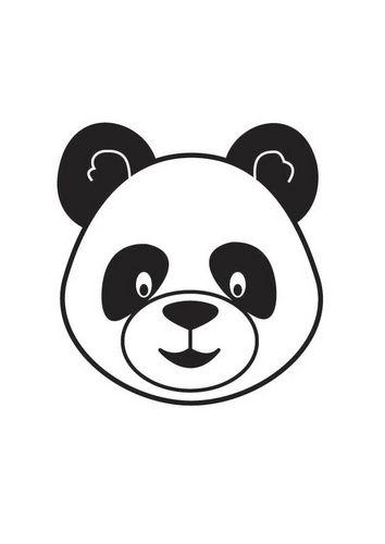 Kleurplaat Kop Panda Boyama Sayfasi Pinterest Panda Cartoon