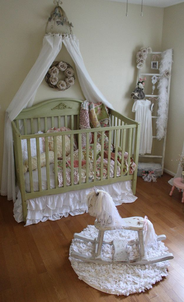Vintage Inspired Shabby Chic Nursery Who Knew The Granny Look Would Come In Style