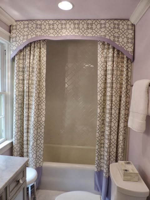 Vintage Glam Before And After Shower Curtain With Valance