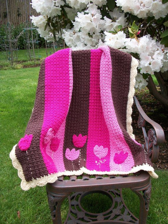 Crochet Pattern for Tulip Baby Blanket...love this!! | Crochet ideas ...