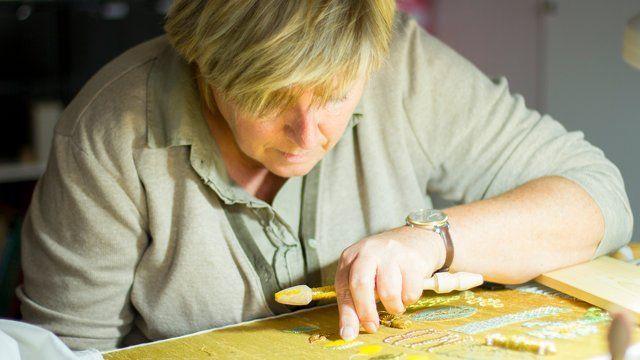 Margreet Beemsterboer - Gold Embroidery / Goldwork Embroidery#beemsterboer #embroidery #gold #goldwork #margreet