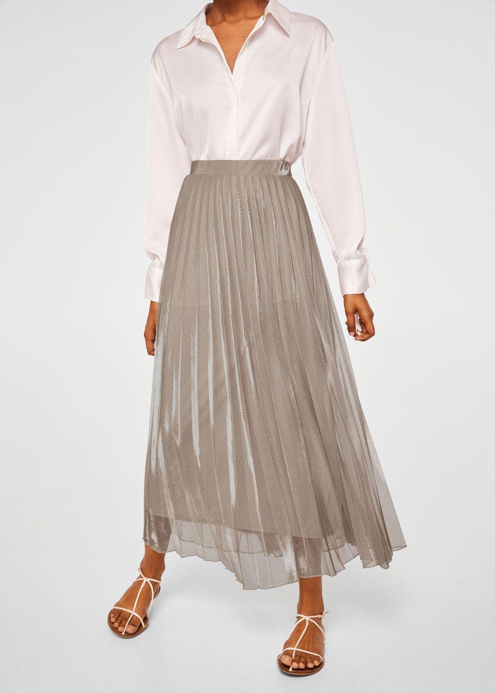 bb516b408 Falda midi plisada - Mujer | MANGO SPECIALS | Falda midi plisada ...