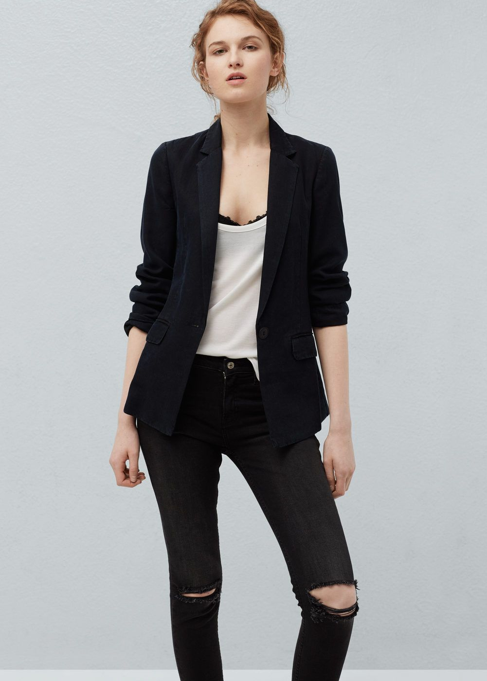 Tencel® fabric blazer | Soft fabrics, Blazers and Blazer jacket