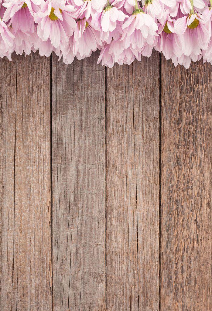 Wooden Backdrop Flower Floral Backgrounds Wood Floor J05049