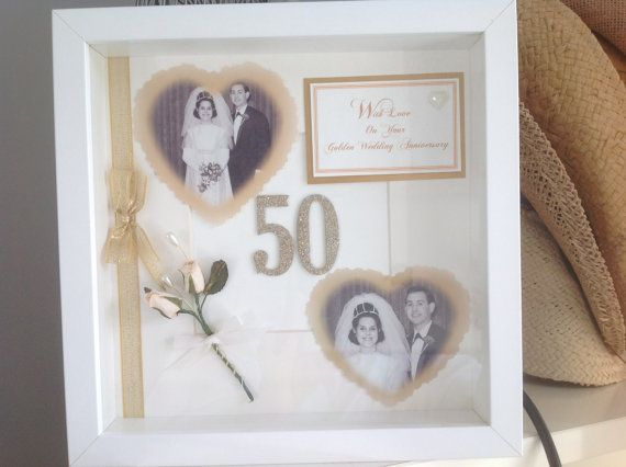 Golden Wedding Anniversary Gift By Iloveumore On Etsy Golden Wedding Anniversary Gifts 50 Wedding Anniversary Gifts Golden Wedding Anniversary