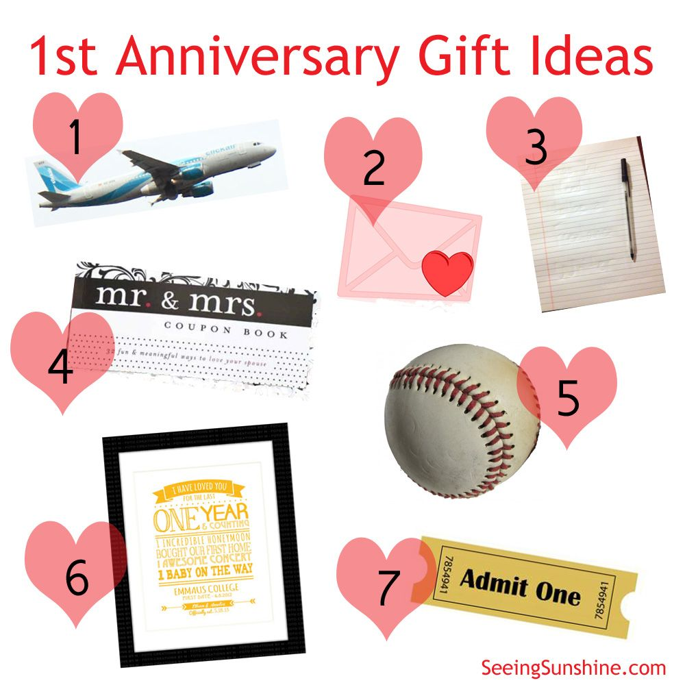 Traditional 1st Wedding Anniversary Gifts: First Anniversary Gift Ideas