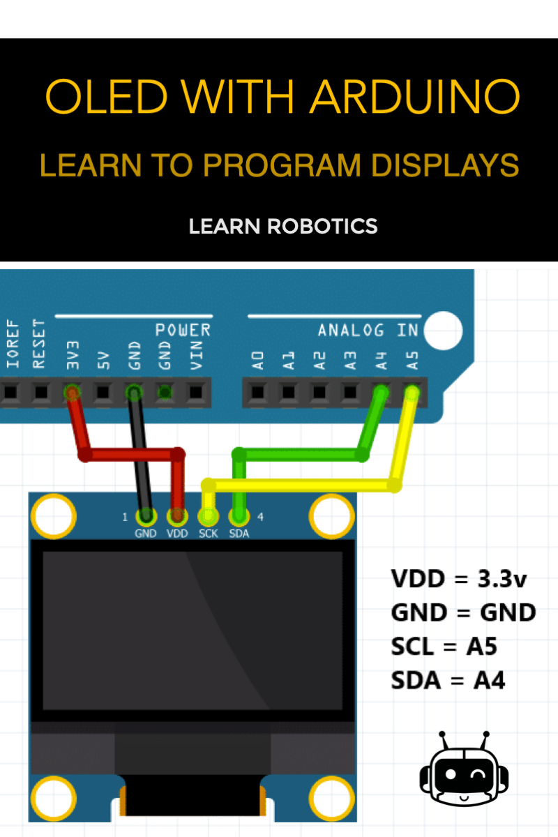 Oled Display With Arduino Tutorial Learn Robotics Arduino Cool Arduino Projects Arduino Projects