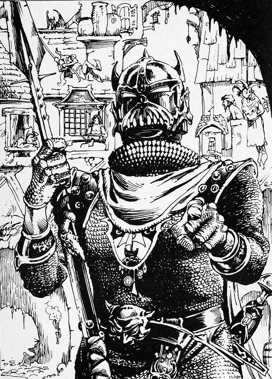 City Guard From City Of Thieves Illustration By Iain Mccaig Fantasy Illustration Fighting Fantasy Books Fantasy Artwork