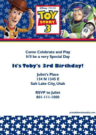Toy Story Birthday Invitation Template Http