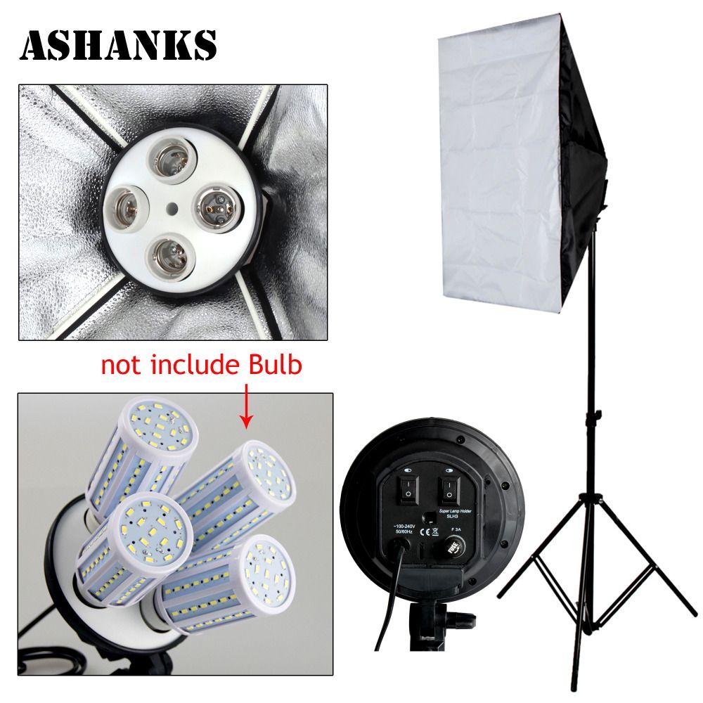 Deals On Photographic Equipment 4 Socket Head 50 X 70cm Softbox 4 Lamp Holder Universal Mount For E27 Studio Continuous Lamp Holder Softbox Light Photography