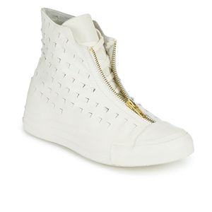 Converse Women's Chuck Taylor All Star Leather Shroud Hi-Top Trainers - Egret: Image 2