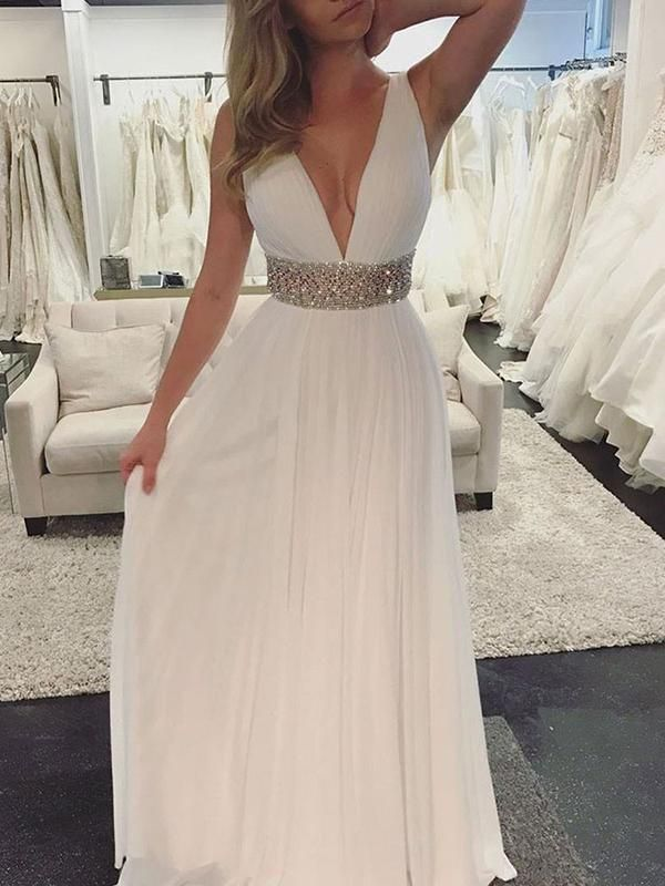 439b156332e Chic A Line Prom Dress Modest Chiffon Cheap Long Prom Dress  VB1732 ...
