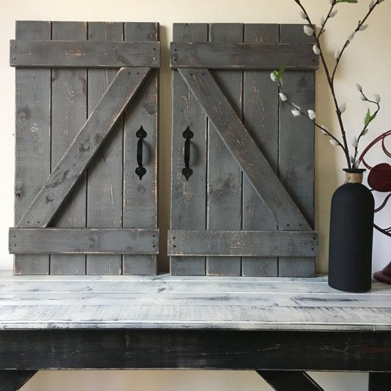 This Listing Is For Two Opposing Barn Doors Each 14 Wide X 24 Tall Sizes Can Vary By 1 4 Depending On Wo Rustic Gallery Wall Rustic Barn Door Barn Door Decor