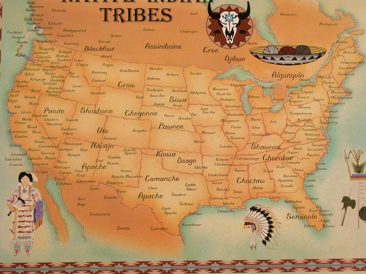 Native American Map I Believe Pawnee Should Be In Indiana I - Map of native american tribes in arizona