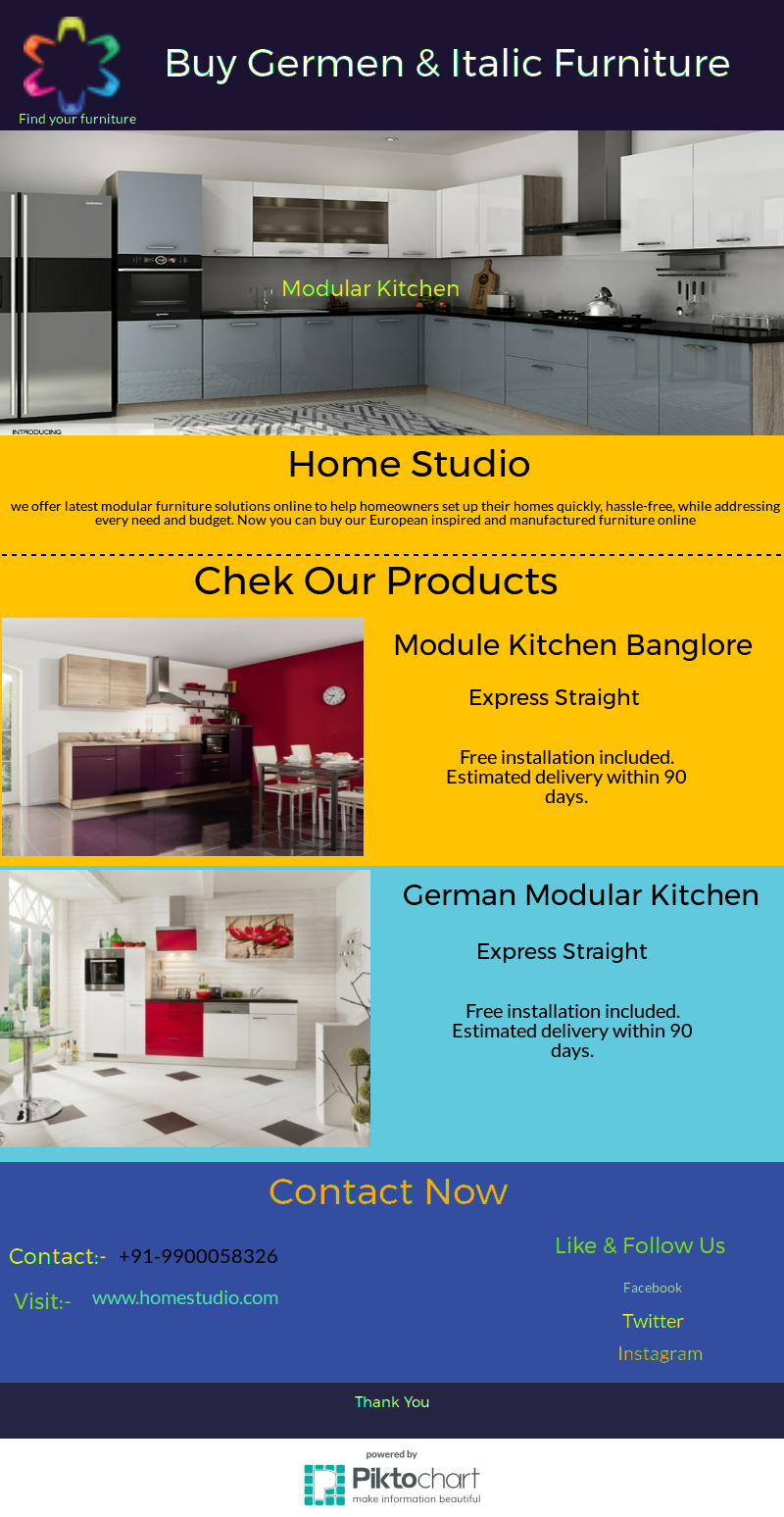 Buy German Modular Kitchen in Banglore, Homestudio Provides Italic ...