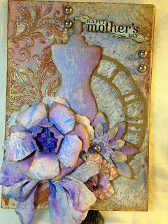 sarascloset: Stenciled Mother's Day Card