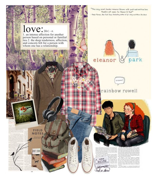 """Book Review: Eleanor and Park by Rainbow Rowell"" by bittersweet89 ❤ liked on Polyvore featuring Karl Lagerfeld, Barbour, Current/Elliott, Calvin Klein Jeans, Mossimo, Converse, HOT SOX, DK, contemporary and books"