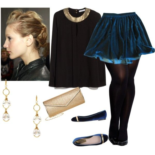 A fashion look from March 2015 featuring MANGO blouses, American Apparel skirts and City Chic tights. Browse and shop related looks.