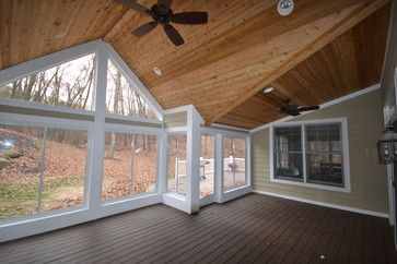 Roof Pitch Three Season Room Screened In Porch