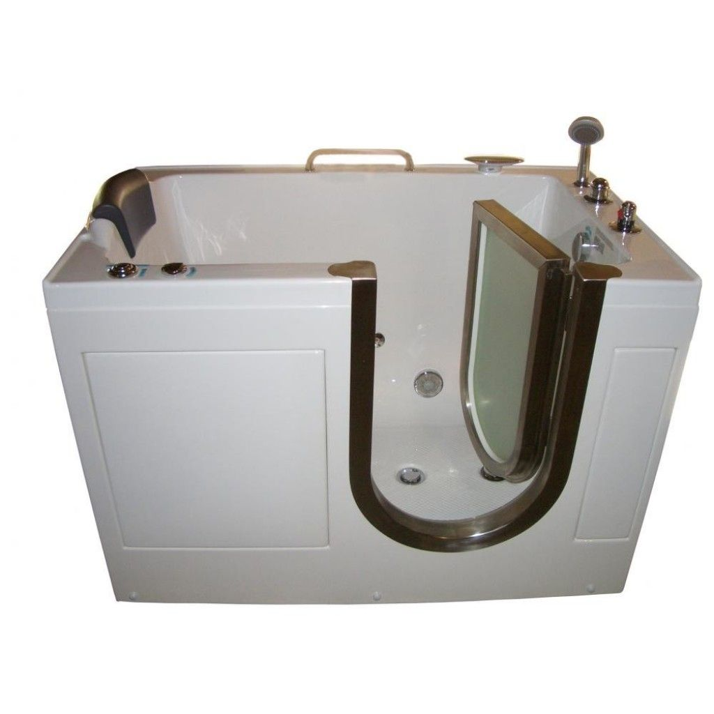 Steam Planet 52 X 32 Walk In Tub With Inline Heater And Whirlpool