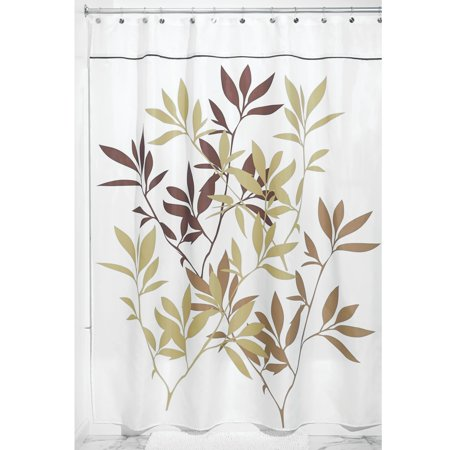 Interdesign Leaves Fabric Shower Curtain Stall 54 Inch X 78 Inch